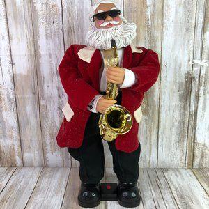 Gemmy Santa Playing Sax Animated Christmas Decor